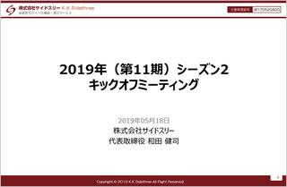 内容が濃ゆーい「2019年(第11期)シーズン2 キックオフミーティング」のご報告