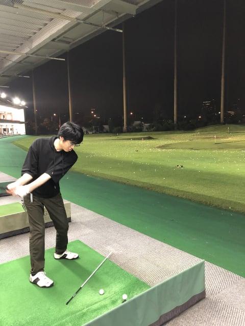 せんせいのゴルフ練習風景